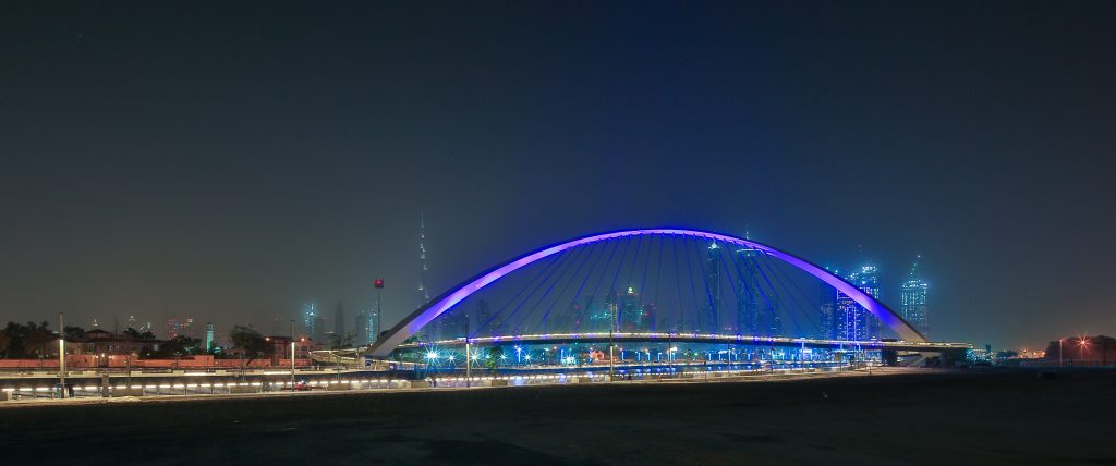 Dubai Water Canal - the Bridge of Tolerance (Pedestrian Bridge 2)